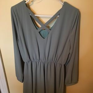 Sage long sleeved dress from Francesca's